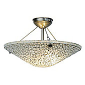 Kansa Lighting Brunswick Dish Hanging Ceiling Mount Uplighter
