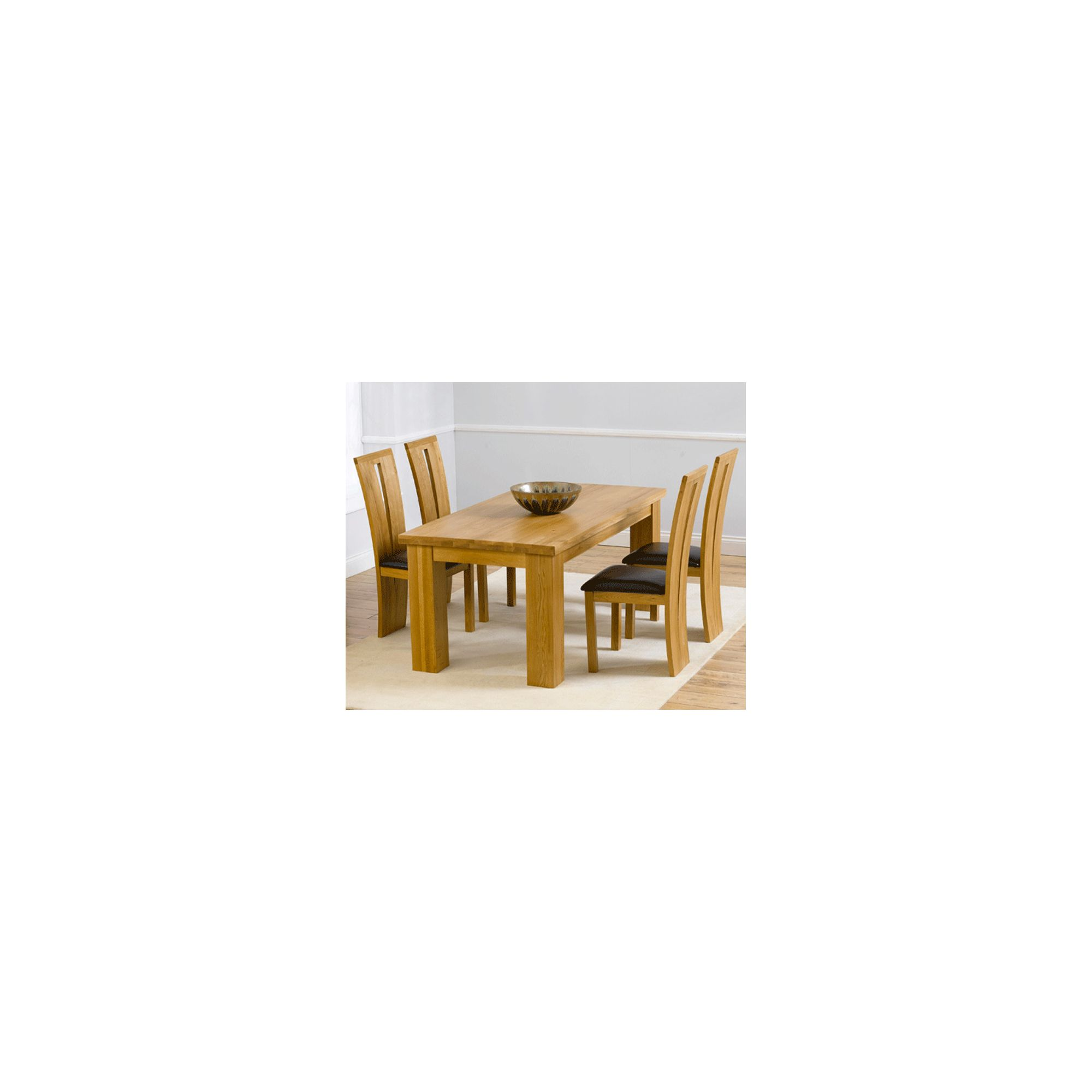Mark Harris Furniture Barcelona Solid Oak Dining Table with Arizona Chairs