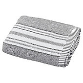 Grey Marl Stripe Hand Towel