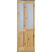 LPD Doors Richmond Knotty Pine Campion Glazed Interior Door - 198.1 cm H x 68.6 cm W x 3.5 cm D