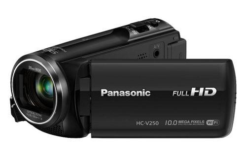 Panasonic HC-V250 Camcorder Black FHD 251mp 50xZoom 27LCD WiFi SD/SDHC/SDXC