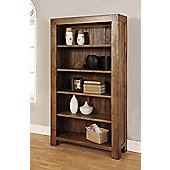 Hawkshead Santana Four Adjustable Shelves Bookcase in Rich Patina