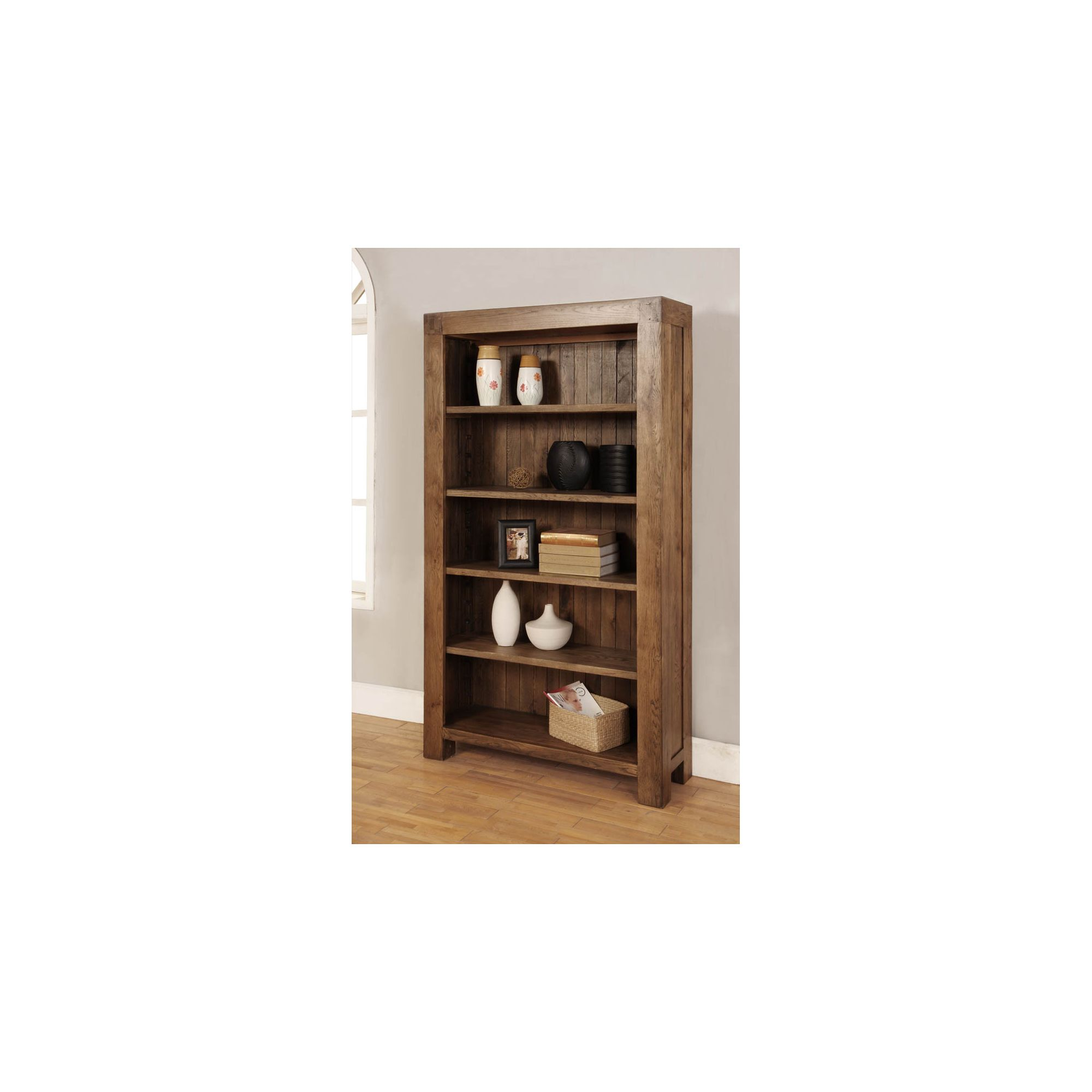 Hawkshead Santana Four Adjustable Shelves Bookcase in Rich Patina at Tesco Direct