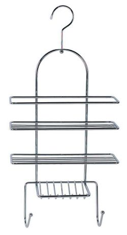 Sabichi Hanging Hook Shower Caddy in Chrome