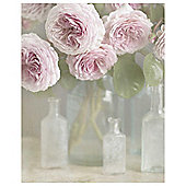 Roses in Glass Bottles Medium Canvas 40 x 50cm
