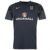 2014-15 England Nike Pre-Match Training Shirt (Navy) - Kids - Navy