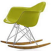 Charles Eames Inspired RAR Blue Rocking Chair