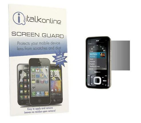 iTALKonline S-Protect LCD Screen Protector and Micro Fibre Cleaning Cloth - For  Nokia N81