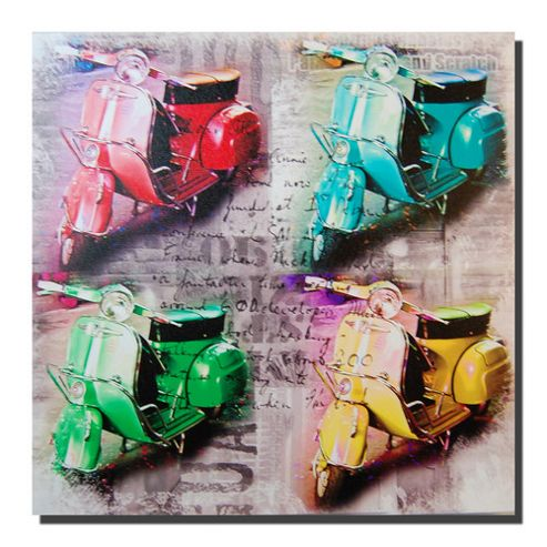 Novus Imports Four Scooters Canvas Print