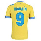 2013-14 Napoli Authentic 3rd Shirt (Higuain 9) - Yellow