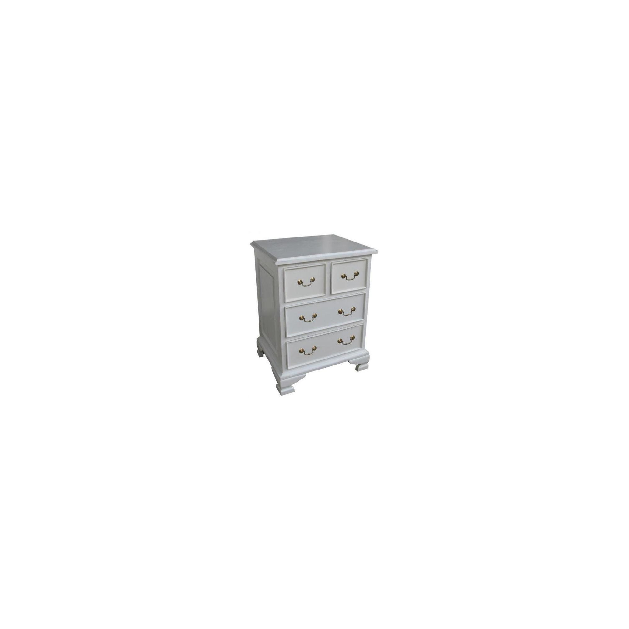 Lock stock and barrel Mahogany 4 Drawer Bedside Table in Mahogany - Antique White at Tesco Direct