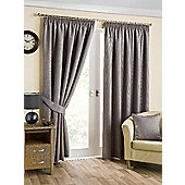 Hamilton McBride Belvedere Lined Pencil Pleat Pewter Curtains - 90x72 Inches (229x183cm)