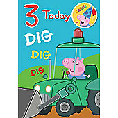 Peppa Pig George Pig Birthday Card - 2 Years