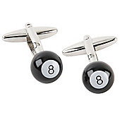 Black Number 8 Pool Bal Novelty Themedl Cufflinks