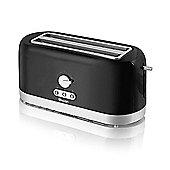 Swan 4 Slice LongSlot Toaster - Black