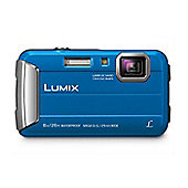 Panasonic DMC-FT30 Camera Blue 16.1MP 4xZoom 2.7LCD 720pHD 25mm DC Vario Wtprf