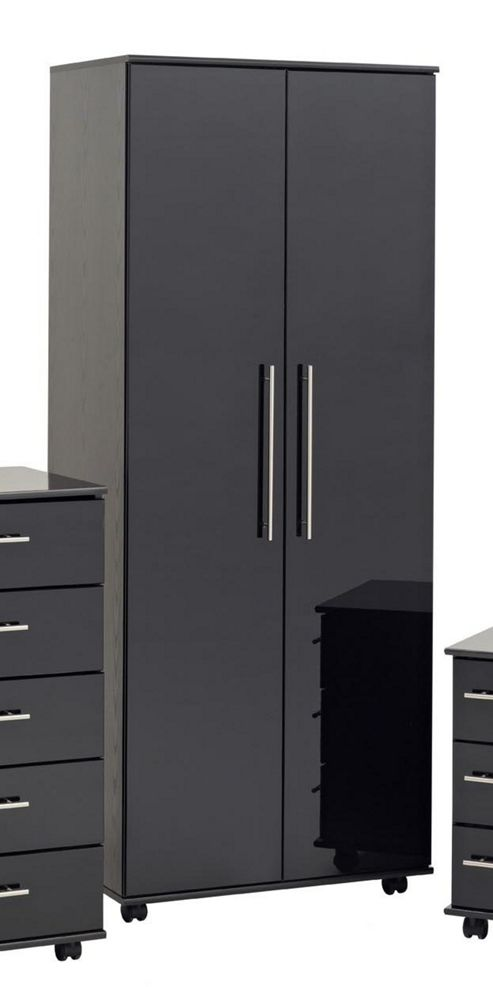 Ideal Furniture New York Robe - Gloss Black