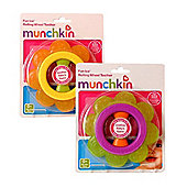 Munchkin Fun Ice Rolling Wheel Teether Flower Pack of 2
