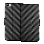 "Orzly Multifunctional Wallet Case for iPhone 6 and Iphone 6s 4.7"" - Black Carbon Fibre"
