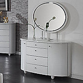 Birlea Aztec Dresser and Mirror Set - White