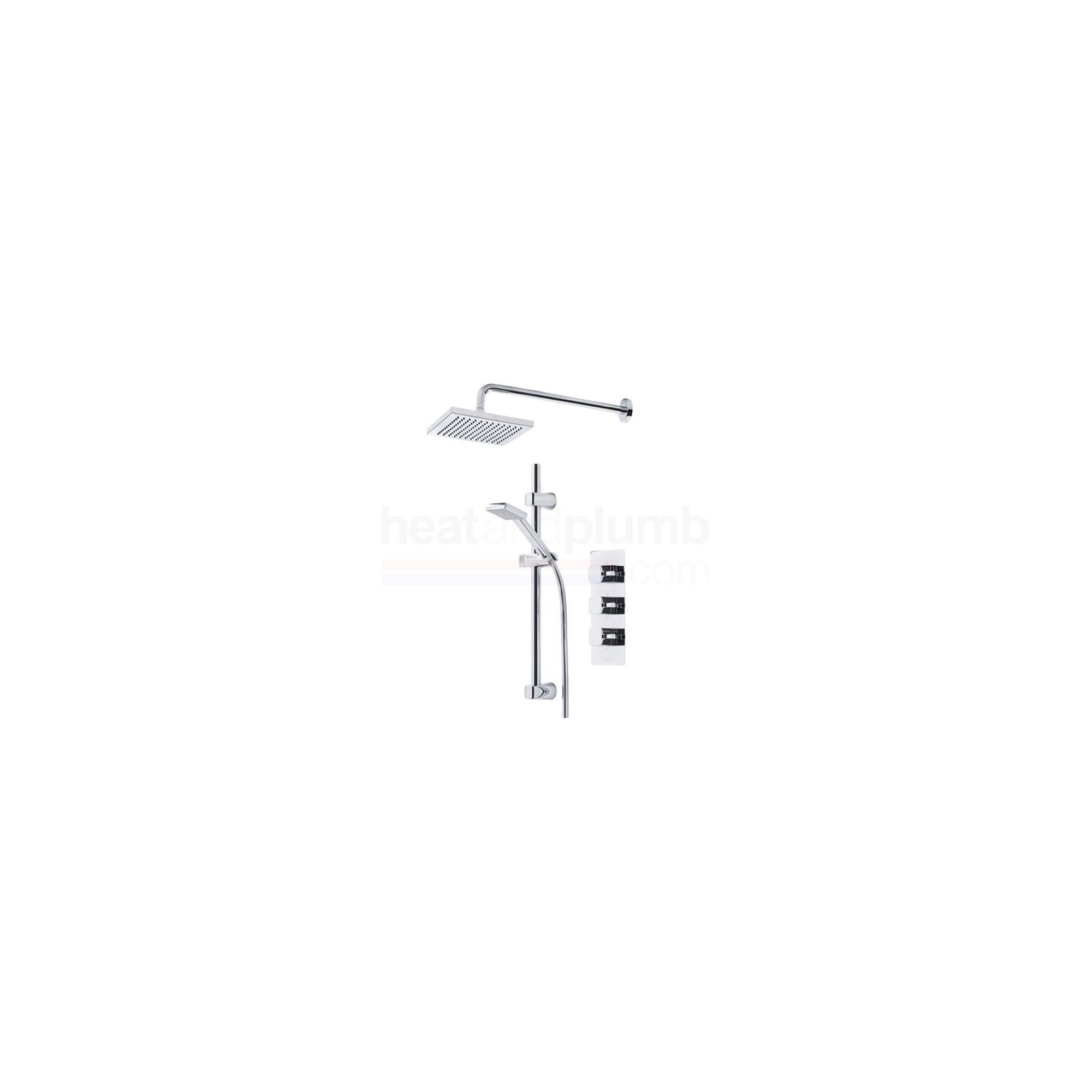 Tavistock Logic Thermostatic Triple Concealed Shower Valve with Square Shower Head & Single Function Handset at Tesco Direct