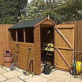 Mercia Garden Products Shiplap OSB Apex Shed with Single Door - 200 cm H x 162 cm W x 215 cm D