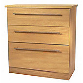 Welcome Furniture Sherwood 3 Drawer Deep Chest - English Oak