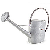Large Traditional Galvanised Steel Metal 9L Garden Plant Watering Can with Rose