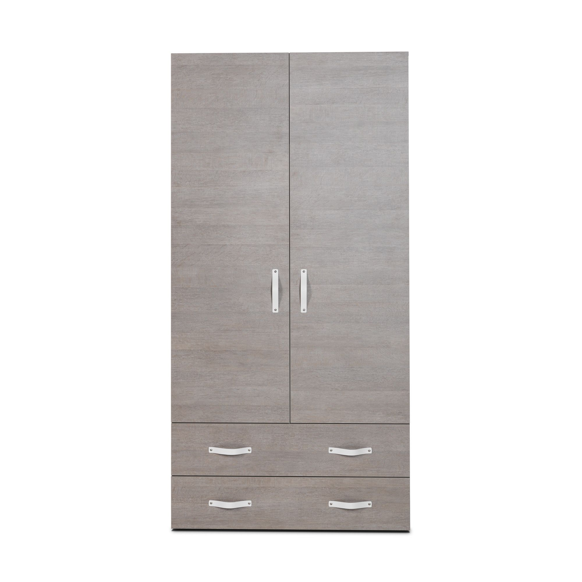 Didit Two-Drawer Wardrobe - Riverside Oak Light at Tesco Direct