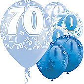 70th 12' Latex Balloons (6pk)