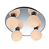 Firstlight Showtime Mirror Wall and Four Light Flush Mount