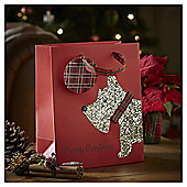 Medium Scottie Dog Christmas Gift Bag