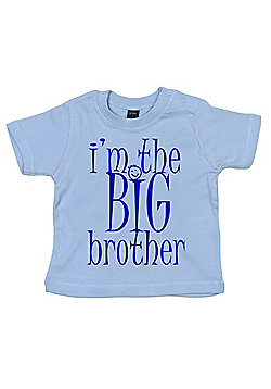 Dirty Fingers I'm the BIG Brother Baby T-shirt - Blue