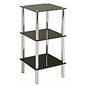 Urbane Designs Estland Shelf - Black Varnish / Chrome