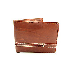 Jos Von Arx Roma Mens Genuine Brown Italian Leather Wallet IL05