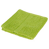 Tesco 100% Combed Cotton Face Cloth Lime