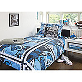 Emma Wright Superman Cotton Double Quilt Set Blue