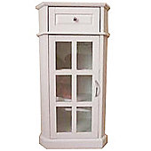 Glaze - Bathroom Glass Door Storage Cabinet - White