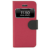 Tortoise™ Folio interactive window Case iPhone 5/5S Pink/Black
