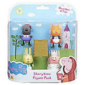 Peppa Pig Once Upon A Time Figure Pack - Medieval Danny, Woodland Candy, Woodland Rebecca & Swan Peppa