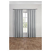 Blackout Pencil Pleat Curtains, Duck Egg (66 x 54'') - Silver