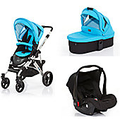 ABC Design Mamba 3 in 1 Pram Travel System - Rio (Silver Frame)