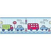 Beep Beep Cars and Vehicles 7 Inch Wallpaper Border 5m