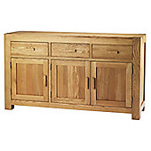 Chunky Oak Three Door Sideboard
