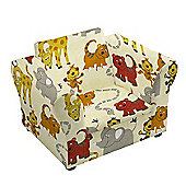 Children's Jungle Party Upholstered Armchair with Curved Arms