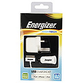 Energizer 30 Pin Cable, 2.1amp car & mains charger