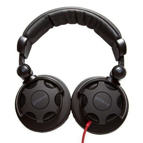 Groove-E Jamz Professional DJ Headphones - Black