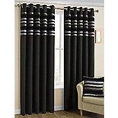 Fairview Eyelet Curtains, Black 117x137cm