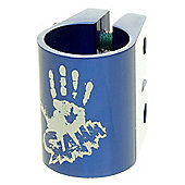 Slamm Oversized Double Collar Clamp - Anodised Blue