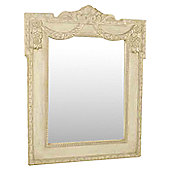 Papa Theo Christina Mirror in Antique White finish